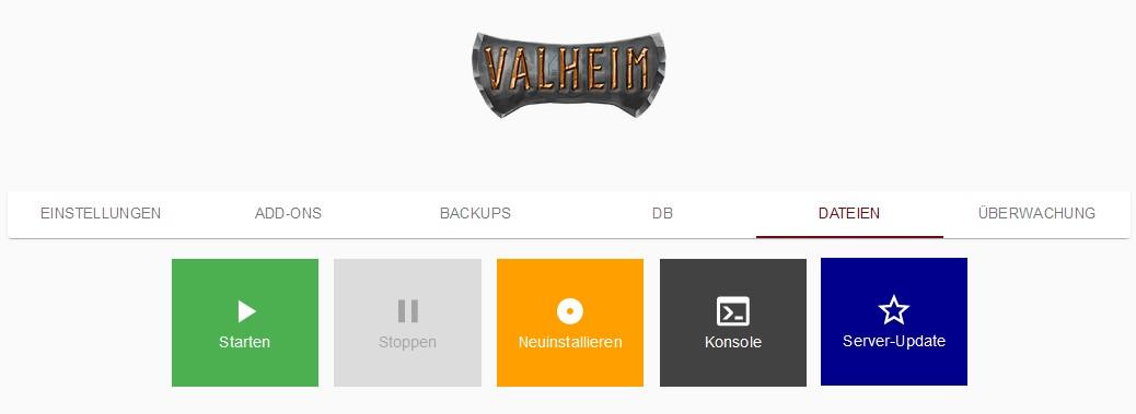Valheim Grundsteuerung